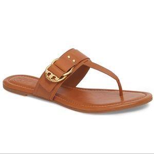 EUC Tory Burch Marsden Leather Flat Thong Sandals